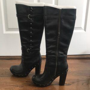 Korkease Bailey Black Leather High Boot